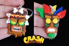 Llavero Aku Aku y Uka Uka  Llavero Crash Bandicoot