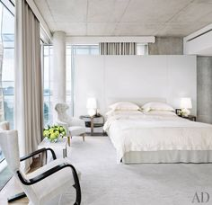 Simple and stylish, these bedrooms make a statement with crisp all-white motifs