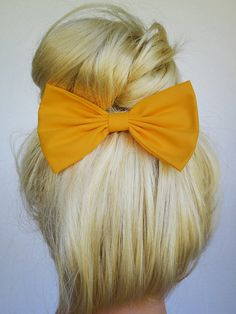 Artisans Gold Hair Bow Clip Artisans Gold Bow Hairbows hairbow Gold Hair Bow for teens Yellow Gold Bow Mustard Gold bow women Halloween Bow on Etsy, $4.99