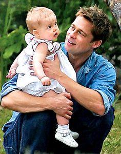 Brad Pitt & Family ER.VG ELIOT RAFFIT Salutes A Father's Love