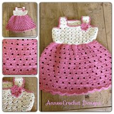 Little baby Girl Crochet Dress By AnnooCrochet Designs