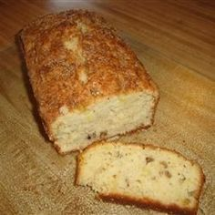 Pineapple Bread--- substitute regular flour for GF flour blend and add 1 tsp xanthan gum -- or use GF baking mix which already has xanthan gum, but I added additional tsp -- I also added cup shredded sweetened coconut - it is delicious! Gourmet Recipes, Bread Recipes, Dessert Recipes, Cooking Recipes, Desserts, Breakfast Recipes, Breakfast Ideas, Easy Recipes, Pineapple Bread