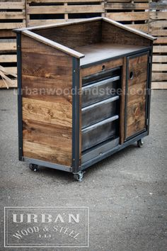 Iron Horse Server & Sales Station by urbanwoodandsteel on Etsy