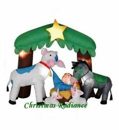 1000 images about nativity scene airblown christmas for Baby jesus lawn decoration