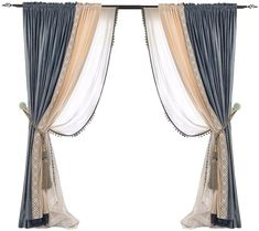 Home Curtains, Curtains With Blinds, Window Curtains, Decor Interior Design, Furniture Design, Interior Decorating, Copper Decor, Curtain Hardware, Colorful Curtains