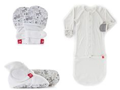 Goumikids Newborn 3 Piece Set, No Scratch Mittens, Stay On Booties, and Beanie Hat, Perfect Organic Baby Essentials Gift For Showers, Sip and See or Take Home Outfit