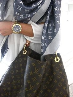 Louis Vouitton scarf and bag | #outfit