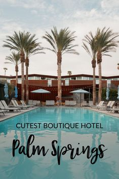 The Arrive Hotel is the best place to stay in Palm Springs California. Here is why you must stay at this boutique hotel and incredible pool. #palmsprings Instagrammable places in Palm Springs | where to stay in Palm Springs | Palm Springs Hotel | Palm Springs | weekend in Palm Springs CA | Palm Springs boutique hotel | Best Palm Springs Pools
