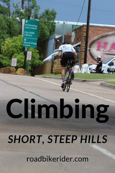 Getting bogged down or dropped when the hills get steep? These tips and training techniques will get you over the top faster. #cyclingtips #cyclingadvice #cyclingmyths #cycling #bicycling #bicycle #thecyclingbug #roadbikerider