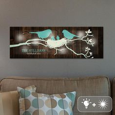 TwinkleBright™ LED Our Little Family Canvas