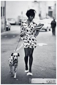 Naomi Campbell pour Vogue Juin 1990 - Photographie de Peter Lindbergh