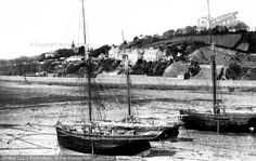 Jersey, Gorey Harbour And Village 1893. #fishing #Harbours #Victorian #Jersey #nostalgia