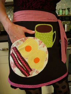 One of a Kind Ladies Apron with Bacon and Eggs by snappyshop