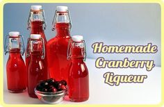 Cranberry Liqueur -  Makes 5 cups  Ingredients:  1 cup water, 2 cups sugar, 2 cups whole-berry cranberry sauce, canned or homemade, zest of 1 lime, 3 cups Vodka.  After making, store in cool, dark place or refrigerator for 4 days. Flip jar over, or give it a stir every day.