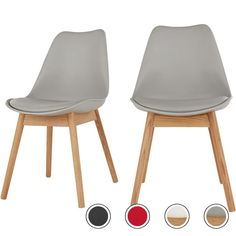 Set of 2 Thelma Dining Chairs, Oak and Grey from Made.com. Light Wood/Grey. Let's be honest. Comfy, family-friendly dining chairs don't always screa..