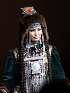 Yakut Girl of the Turkic Communities originated Yakutistan Country.