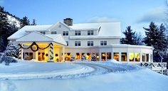 The White Mountain Hotel & Resort in North Conway, NH. A glowing getaway begins high above Mt. Washington Valley.