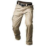 ed5c43687 Mens Outdoor Sport Pants Elastic Waist Soft Shell Warm Fleece Lining ...