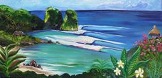 SUMBA INDONESIA TROPICAL SURF OCEAN ART PAINTING BY SHANNON MCINTYRE