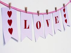School party tomorrow? Print this customizable banner for a free decoration! >> http://www.diynetwork.com/decorating/diy-valentine-cards-gift-tags-banners-and-treat-bags-for-kids/pictures/index.html?soc=pinterest#