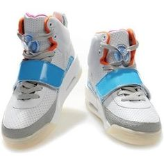 Womens Air Yeezy Shoes White Light Blue Glow In The Dark e4686a221