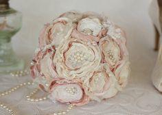 Vintage Inspired Brooch Wedding Bouquet by MyVintageWeddingAust