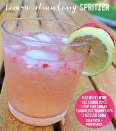 Lemon Strawberry Spritzer