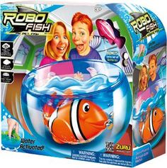 Robo Fish Play Set Fish Bowl with Random Fish Included - Water activated! As seen on TV. As Seen On Tv. Robo Fish Activates In Water. Swims Like A Real Fish. Comes With Spare Batteries. Robo Fish, Pet Fish, Fish Fish, Unique Gifts For Boys, Cool Toys For Girls, Water Kids, Christmas Gifts For Boys, Christmas Toys, Toddler Gifts