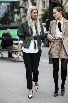 Street Style: Paris Fashion Week Fall '15 | Studded Hearts