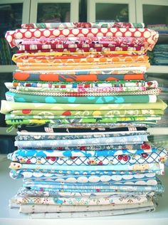 100 things to make with fabric scraps. :)