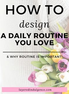 Schedule your daily routine to have more success and be more productive! Take back your day and create your dream life by implementing goals, structure and creativity!