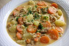 Kartoffel-Hackfleisch-Topf mit Schmand und Möhren, ein sehr leckeres Rezept aus der Kategorie Kochen. Bewertungen: 96. Durchschnitt: Ø 4,5.