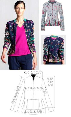 IVKO Ladies BOZENA Peplum Jacket Style 72513 in 039 NAVY or 013 STONE