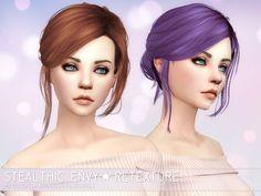 Aveira Sims 4: Stealthic Envy hair retextured - Sims 4 Hairs - http://sims4hairs.com/aveira-sims-4-stealthic-envy-hair-retextured/