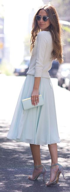 Mint Ballerina Skirt Classic Style by Something Navy