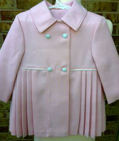 Jacobson's Vintage Pink w Cream Buttons by LadyCleverlysStash, $50.00
