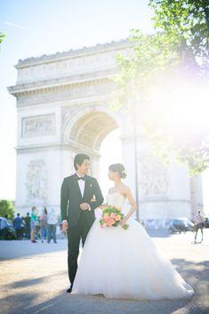 Photograpy: Unison by Takeo Akama Mermaid Wedding, Engagement Photos, Wedding Photos, Takeo, Photoshoot, Paris, Luxury, Wedding Dresses, Weddings