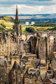 View of Edinburgh (Scotland) by A Lady in London