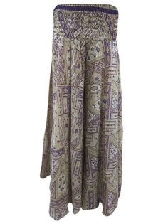 Purple Vintage Sari Harem Pants Silky Maxi Skirt Palazzo Hippy Pant Boho Chic, Bohemian, Hippie Pants, Harem Pants, Sari, Summer Dresses, Hippy, Purple, Palazzo