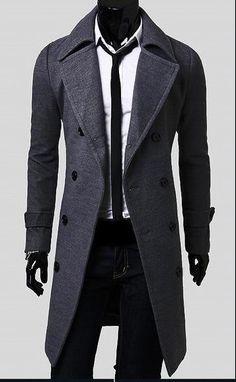 Man Spring New Fashion Trench Coat Men Spring Long Coat Suit Men Wool Coat Men Overcoat Outerwear