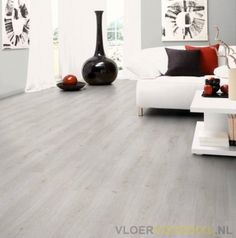 Laminate flooring allows you to have your cake and eat it too. When you want the look of a gorgeous tile or hardwood floor, but do not want the upkeep or expense, laminate flooring may be exactly what you need. Wood Flooring Uk, White Laminate Flooring, Best Laminate, Flooring Sale, Wood Laminate, Hardwood Floors, White Rooms, White Walls, Floors Direct