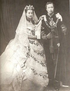 Victoria and Albert on their wedding day.