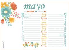 Imprimible: Calendario Mayo 2015