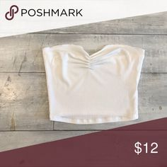 White Ruched Tube Top Super cute black tube top with ruched detail! Super sexy and perfect for the summer time! Tops Crop Tops