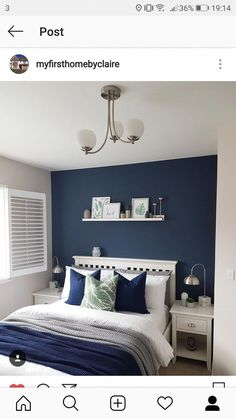 New dark bedroom furniture ideas navy blue 15 Ideas bedroom furniture bedroom decor Navy New dar New dark bedroom furniture ideas navy blue 15 Ideas bedroom furniture bedroom decor Navy New dar Prof Susan Muller nbsp hellip furniture makeover Dark Blue Bedrooms, Blue Master Bedroom, Blue Bedroom Decor, Blue Rooms, Home Bedroom, Navy Bedrooms, Bedroom Ideas, Blue And White Bedroom Furniture, Bedroom Wall Ideas For Adults