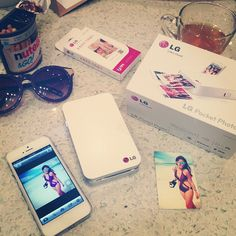 """@laureenmuy's photo: """"This @LGphilippines Pocket Photo is the best!! See that white thing? It's a pocket sized mobile printer that you can wirelessly connect to your phone for instant printing of photos, business cards and important details!! It's sooooo cool!!!! And portable! I'm in love  #LGpocketphotoph"""""""