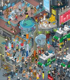 """WIRED Germany 09/2013 Illustration: """"Future Election"""" by Christoph Hoppenbrock, via Behance"""