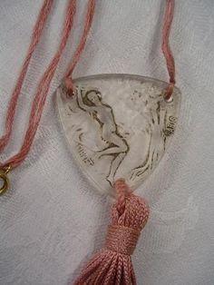 """R. Lalique """"Sweet Pea"""" Pendant for Fioret Paris  c.1920"""