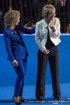 Gabby Giffords and DNC chair Debbie Wasserman-Schultz