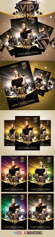 VIP Party Flyer Template PSD. Download here: http://graphicriver.net/item/vip-party-/15913564?ref=ksioks